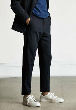 Massimo Dutti - Stoffhose - blue-black denim
