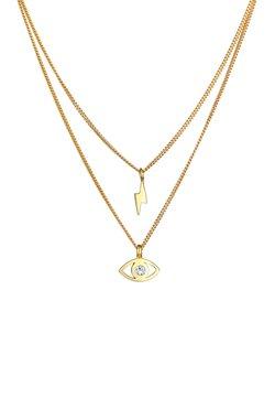 Elli - Layer Look Flash Eye  - Halskette - gold