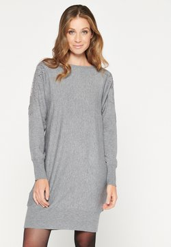 LolaLiza - Gebreide jurk - grey mid mel