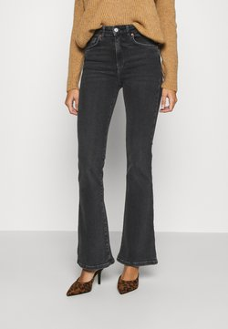 Gina Tricot - MEJA - Flared Jeans - black/grey