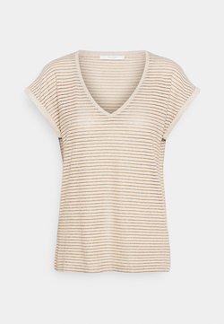 by-bar - MILA STRIPE - T-Shirt print - sand