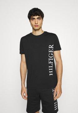 Tommy Hilfiger - LARGE LOGO TEE - T-shirts print - black