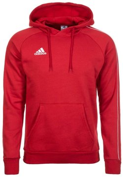 adidas Performance - CORE ELEVEN FOOTBALL HODDIE SWEAT - Kapuzenpullover - red/white