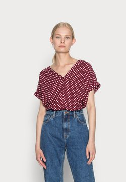 More & More - BLOUSE NON SLEEVE - Bluse - dark cherry