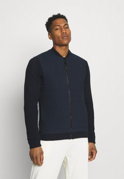 Only & Sons - ONSPRESLEY QUILTED JACKET  - Cardigan - dark navy