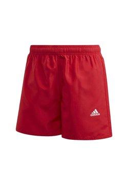 adidas Performance - BADGE OF SPORT PRIMEGREEN REGULAR SWIM SHORTS - Short de bain - red