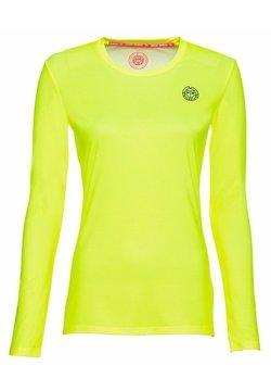 BIDI BADU - PIA TECH ROUNDNECK LONGSLEEVE - Funktionsshirt - neon yellow