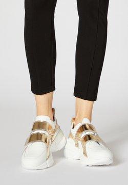 faina - Sneakers laag - white/gold