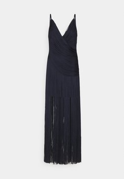 Hervé Léger - DRAPED FRINGE DEEP GOWN - Occasion wear - dark navy