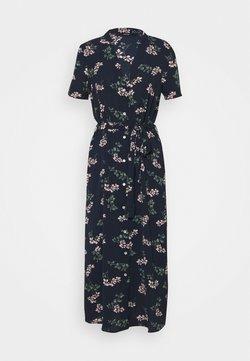 Vero Moda Tall - VMSAGA CALF DRESS  - Blusenkleid - navy blazer