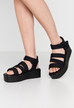 Vagabond - BONNIE - Korkeakorkoiset sandaalit - black