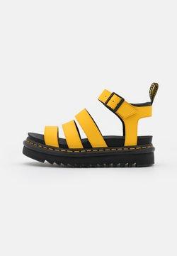 Dr. Martens - BLAIRE - Korkeakorkoiset sandaalit - yellow hydro