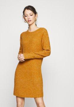 Vila - VINIKKI O-NECK DRESS - Robe pull - pumpkin spice/melange