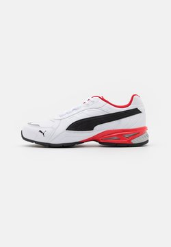 Puma - RESPIN - Zapatillas de running neutras - white/black/silver/high risk red