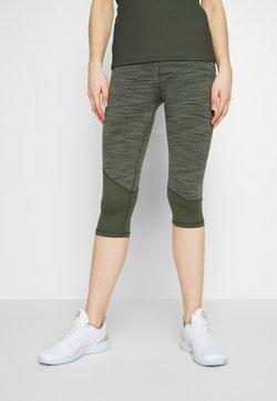 Cotton On Body - PANELLED HEM CAPRI - 3/4 Sporthose - khaki heather