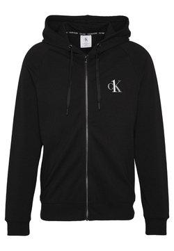 Calvin Klein Underwear - CK ONE FULL ZIP HOODIE  - Haut de pyjama - black