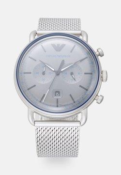 Emporio Armani - Rannekello ajanottotoiminnolla - silver-coloured