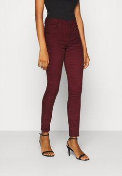 Vero Moda Tall - VMTANYA PIPING ANKLE ZIP - Jeans Skinny Fit - cabernet