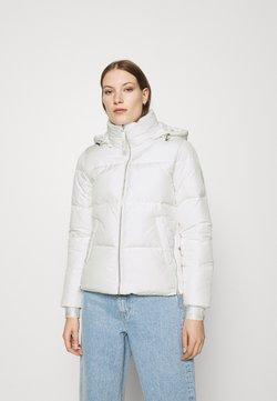 Calvin Klein - ELASTIC LOGO SORONA SHORT JACKET - Winterjacke - white