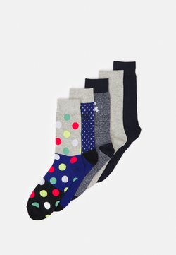 Jack & Jones - JACBLUEISH SOCK 5 PACK - Socken - light grey melange/galaxy blue