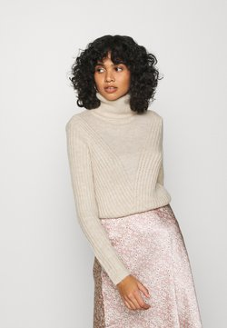 ONLY - ONYVIVIA ROLLNECK - Trui - pumice stone