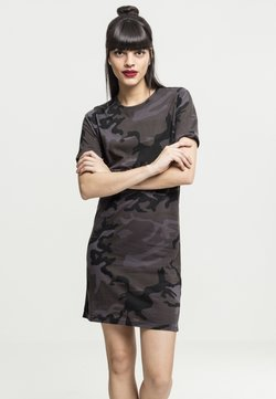 Urban Classics - LADIES CAMO TEE DRESS - Vestido ligero - black