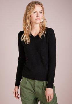 pure cashmere - V NECK - Pullover - black