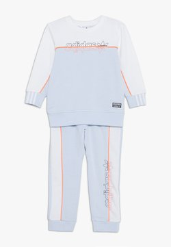 adidas Originals - CREW SET - Survêtement - skytin/white