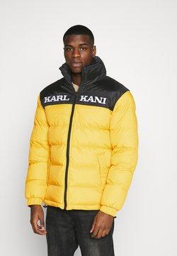 Karl Kani - RETRO BLOCK REVERSIBLE PUFFER JACKET - Winterjacke - black/yellow