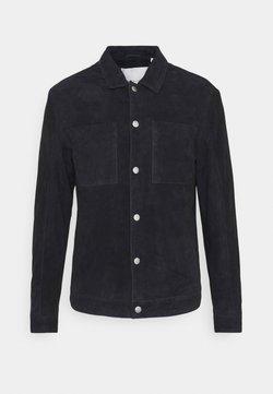 Casual Friday - LIAN SUEDE JACKET - Leren jas - navy blazer