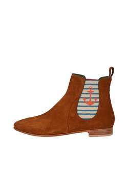 Crickit - CHELSEA BOOT TILDA CHELSEA BOOT MIT STREIFEN UND ANKER - Ankle Boot - cognac