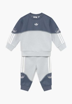 adidas Originals - OUTLINE CREW SET - Survêtement - grey/white
