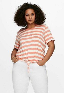 ONLY Carmakoma - CARARLY KNOT  - T-Shirt print - orange