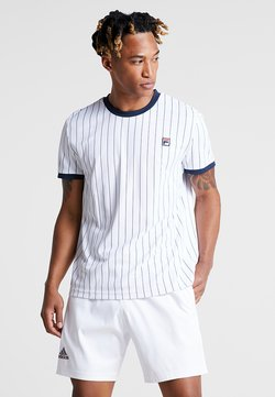 Fila - TREY - T-shirt med print - white/peacoat blue
