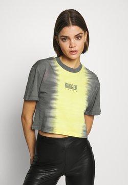 The Ragged Priest - DIP DYE CROPPED BOY TEE - T-Shirt print - yellow/black