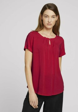 TOM TAILOR - MIT FALTENDETAIL - Camicetta - bloody mary