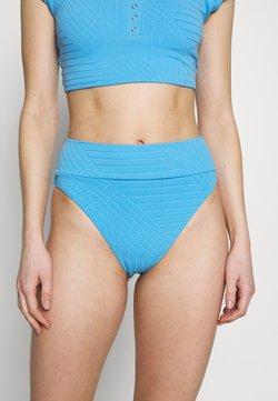 aerie - HI CUT CHEEKY PIECED - Bikini-Hose - blue