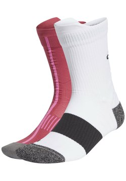 adidas Performance - RUNNING ULTRALIGHT CREW PERFORMANCE SOCKS - Sportsocken - white