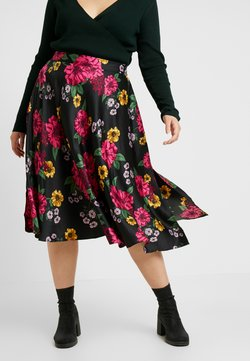 CAPSULE by Simply Be - PRINTED PROM SKIRT - A-Linien-Rock - black/pink