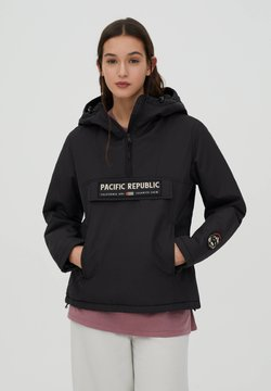 PULL&BEAR - PACIFIC REPUBLIC - Winterjas - black