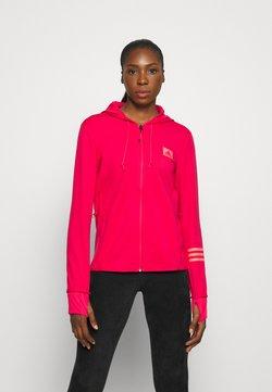 adidas Performance - Hoodie met rits - power pink/signal pink