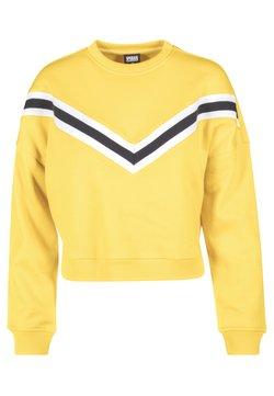 Urban Classics - STRIPED CREW - Sweatshirt - yellow