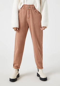 PULL&BEAR - Jeans Relaxed Fit - beige