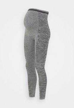 MAMALICIOUS - MLELISSHA ACTIVE TIGHTS - Leggings - dark grey melange
