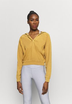 Free People - APRES SKI HOODIE SOLID - Jersey con capucha - golden ochre