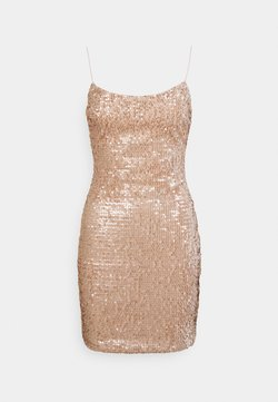 Nly by Nelly - SEQUIN MINI DRESS - Cocktailklänning - champagne