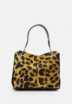 River Island - LEOPARD SOFT TOTE - Shopping Bag - beige