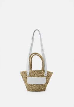 Núnoo - BEACH BAG SMALL - Torebka - nature white details