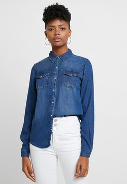 Vila - VIBISTA  - Button-down blouse - blue denim