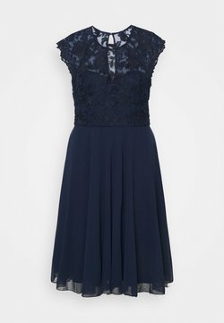 Chi Chi London Curvy - HELENE DRESS - Cocktailkleid/festliches Kleid - navy